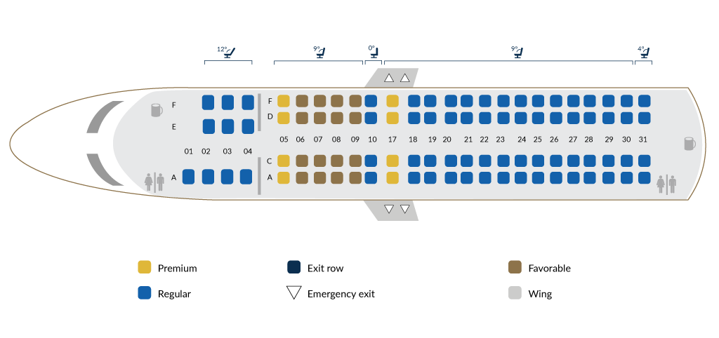 Embraer 190AR A - Site map
