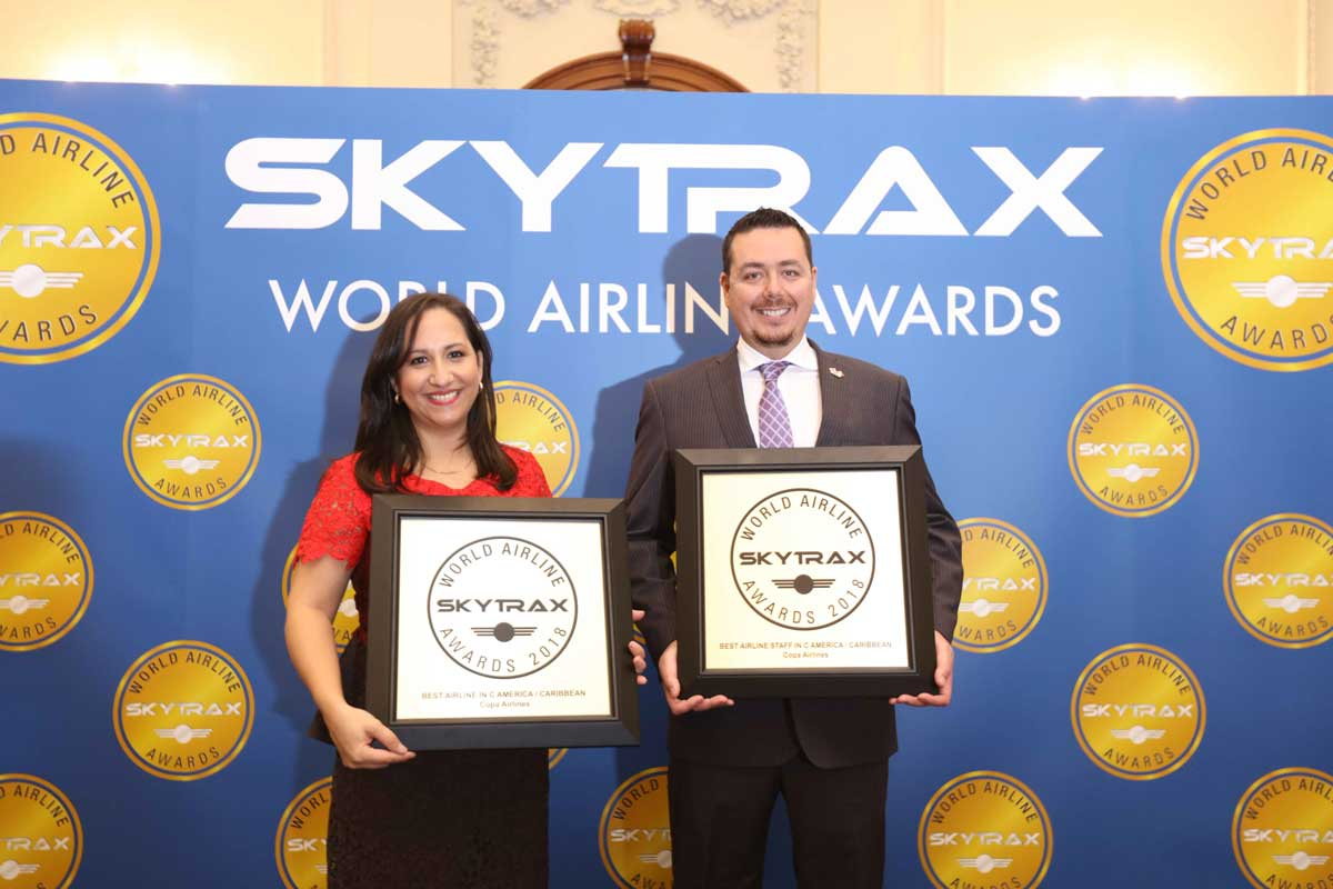 Copa Airlines is recognized by Skytrax as the best airline in Central America and the Caribbean