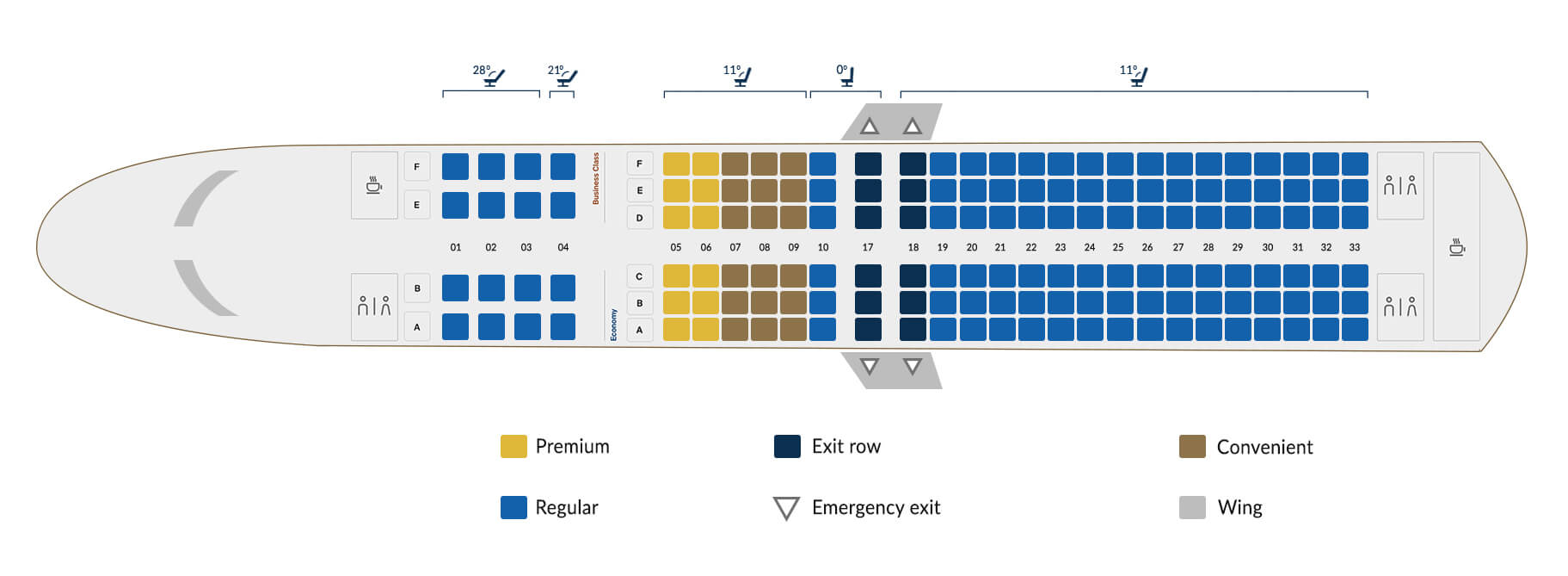 Technical details Boeing 737-800B - Copa Airlines