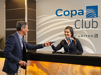 Copa Club's lobby at San Jose