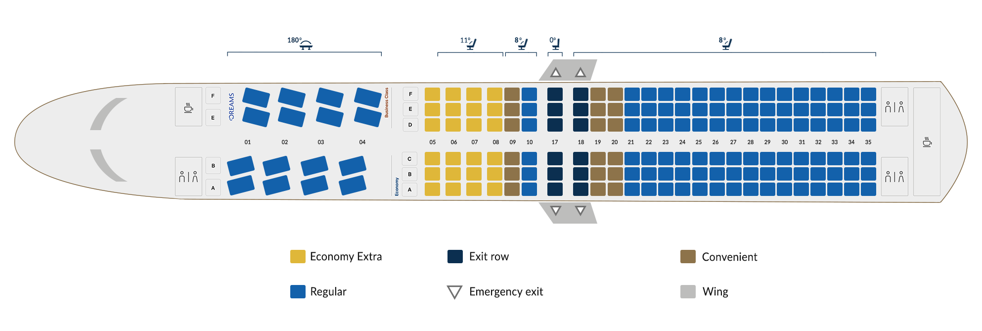 Boeing 737-MAX 9 seats map