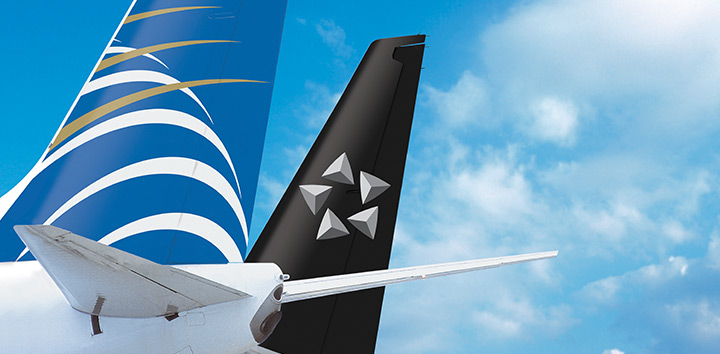 Aviones de Copa Airlines y Star Alliance