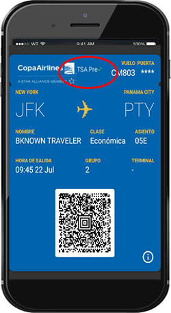 tsa-Mobile App boarding pass