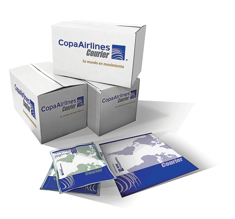Different presentations of Copa Courier's packages