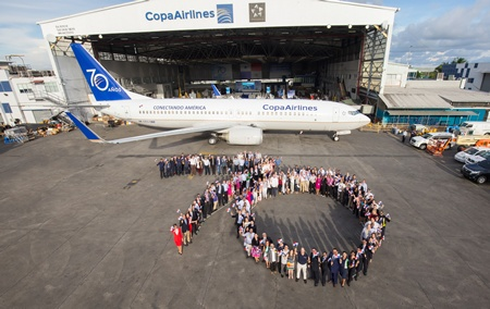 Copa Airlines celebrates 70 years of connecting the Americas