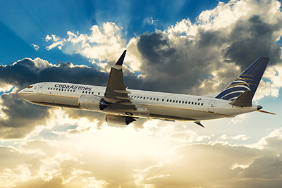 First commercial flight of the new MAX 9 of Copa Airlines