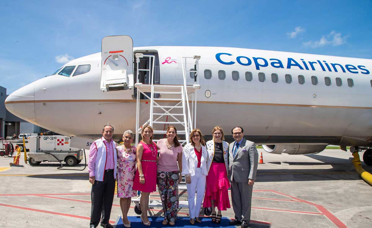 Copa Airlines is deeply committed to the fight against breast cancer and prostate cancer