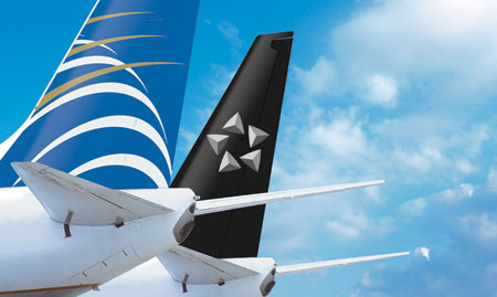 Empennages with Copa Airlines and Star Alliance logo