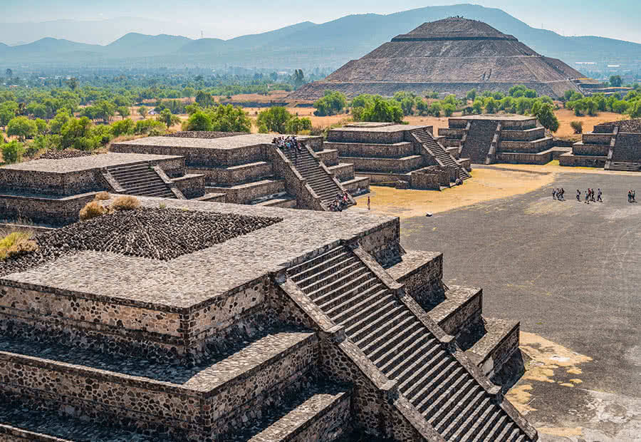 Mexico City, is home to archaeological sites,