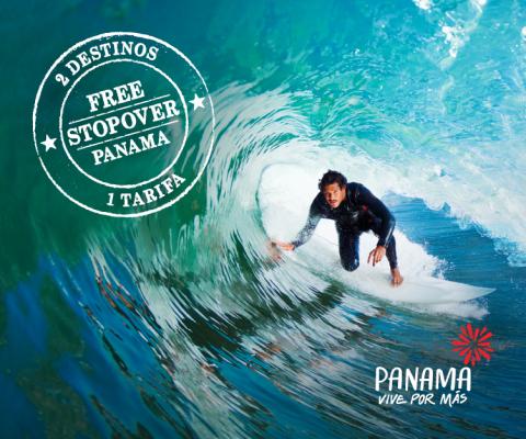 2 Destinos 1 tarifa. Free Stopover Panama