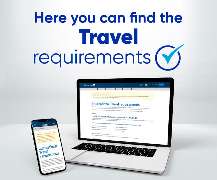 Here you can find the travel requirements